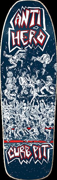 ANTI HERO CURB PIT SKATE DECK-10x31.62 BLUE w/ MOB GRIP