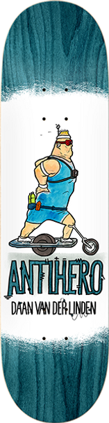 ANTI HERO DAAN ELECTRIC LUXURIES SKATE DECK-8.38 w/ MOB GRIP