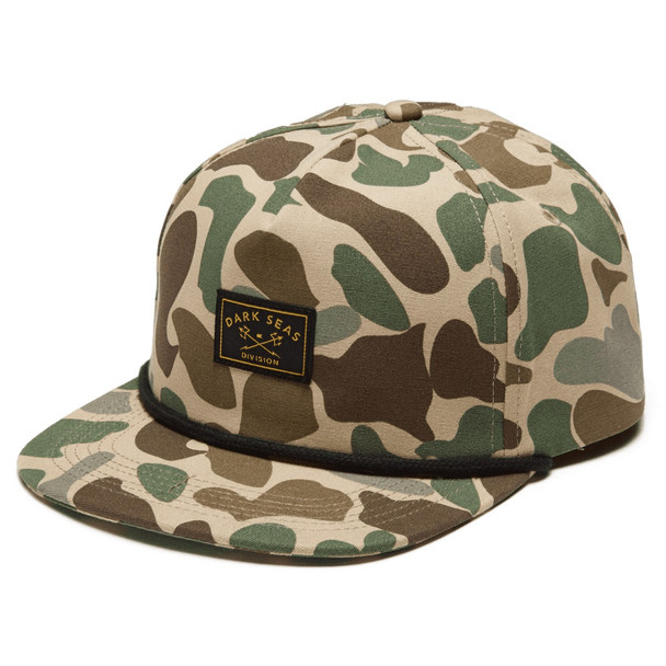 Dark Seas Freighter Hat Bubble Camo Snapback