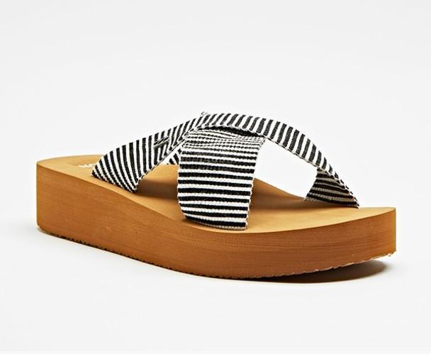 Billabong Boardwalk Sandals Womens Black White