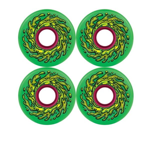 Santa Cruz Slime Balls Wheels Set Green 66mm