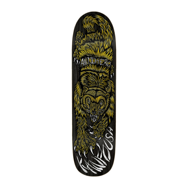 Anti Hero Kanfoush Gulo Yanzer Skate Deck Brown 8.55 w/ MOB Grip