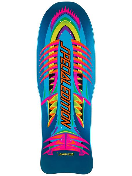Santa Cruz Special Edition Fish Reissue Skate Deck Black 10.14x30.29