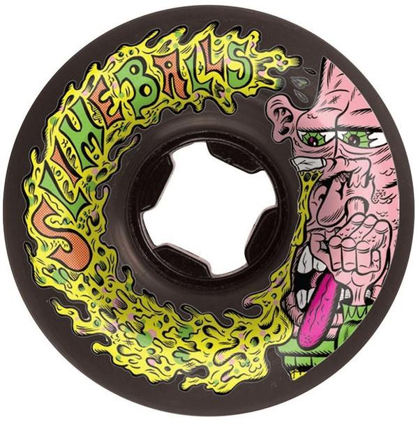Santa Cruz SlimeBalls Snotwheels Vomit Wheels Set Black 56mm/97a