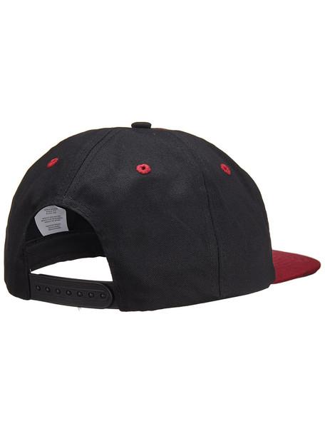 Independent Cab Flourish MidProfile Hat Black Maroon Snapback