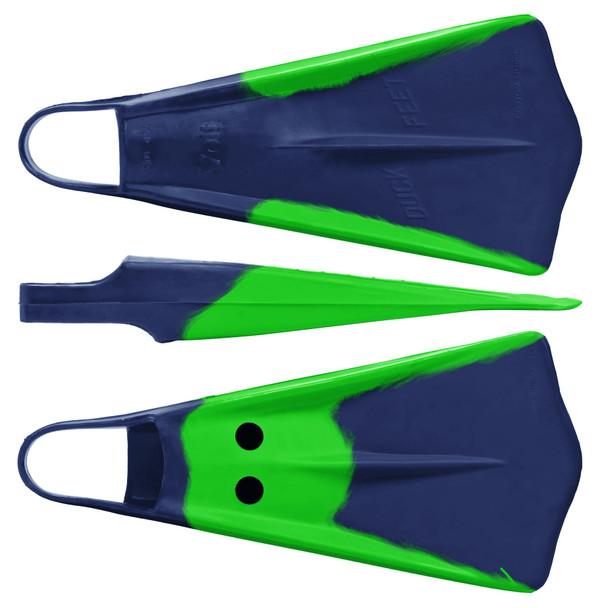 Voit Duck Feet Swim Fins Blue Green sz 8-9