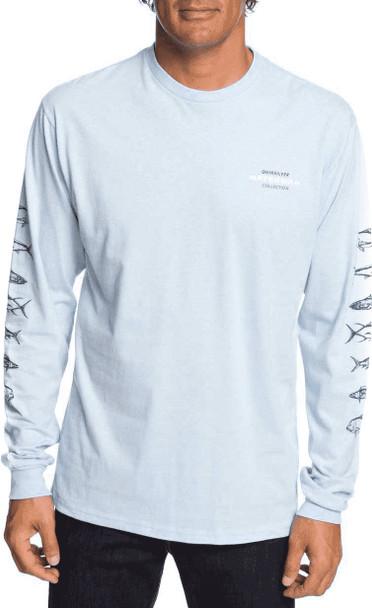 Quiksilver Aztec Fish LongSleeve Tshirt Light Blue