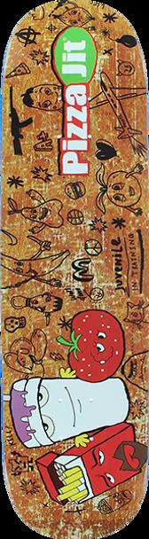PIZZA JIT SKATE DECK-7.75 w/MOB GRIP