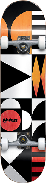 ALMOST GEOMETRIX SKATEBOARD COMPLETE-8.0