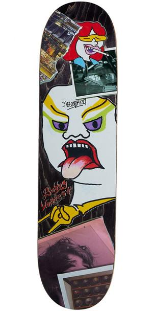 Krooked Worrest Tore Up Skate Deck Black 8.06 w/ MOB Grip