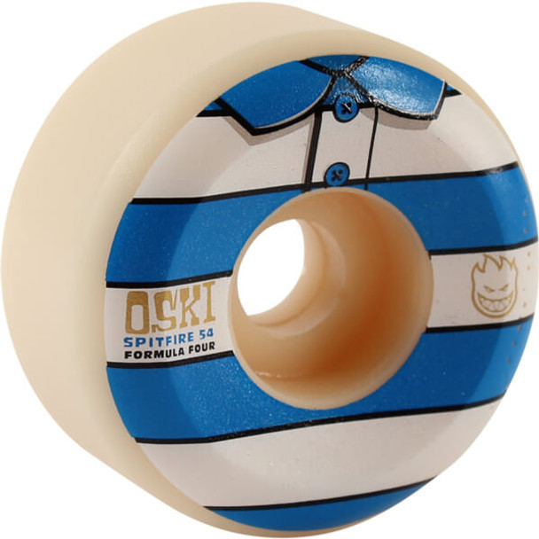 Spitfire Rozenberg Conical Wheels Set Stripe White Blue 54mm/99d