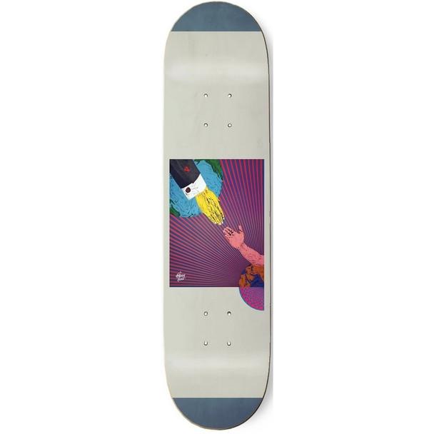TKF Salvation Skate Deck Blue 8.75 w/ MOB Grip