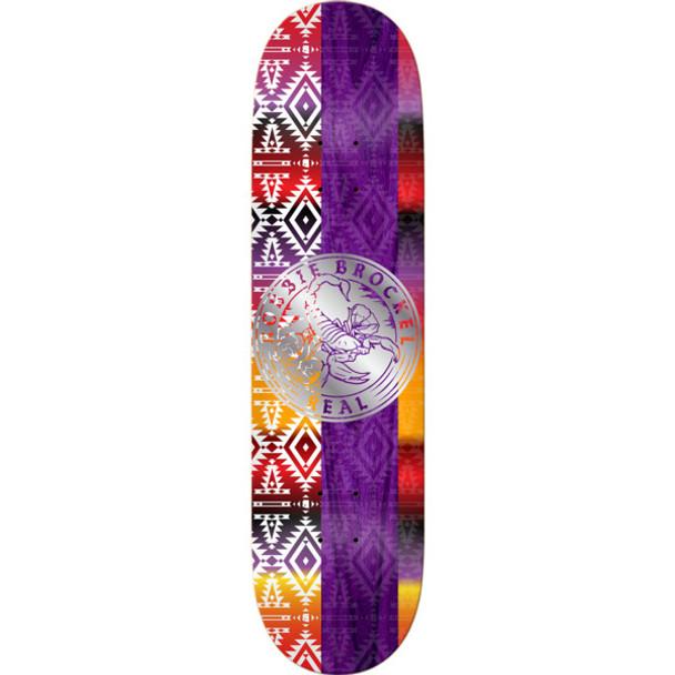 Real Brockel Notary Skate Skate Deck Purple 8.5 w/ MOB Grip