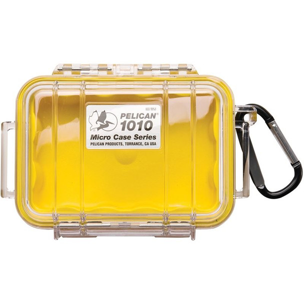 Pelican #1010 Micro Case Clear Yellow 4x2x1