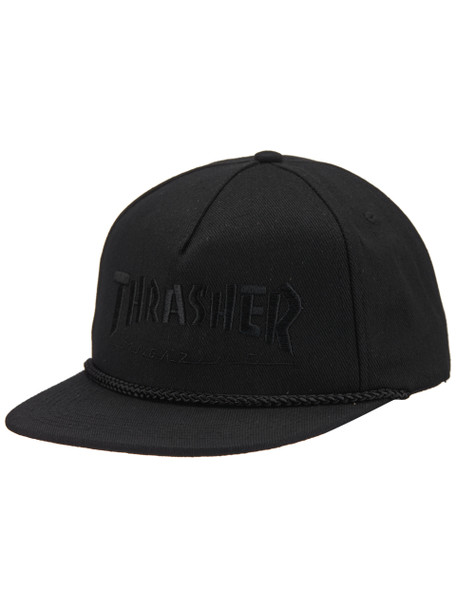 Thrasher Rope Hat Black Black Snapback