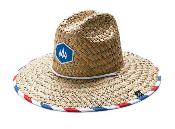 Hemlock Melrose Hat Red White Blue Stripe OneSize