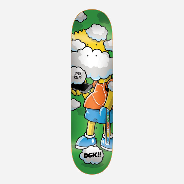 DGK Clouded Kalis Skate Deck Green 8.06 w/ MOB Grip