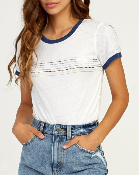 RVCA Double Vision Ts Womens Vintage White