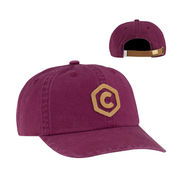 Coal Colby Hat Burgundy Adjustable