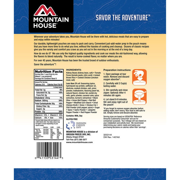 Mountain House Mexican Rice & Chicken Brown Onesize