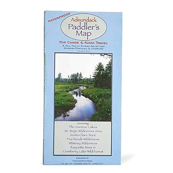 Adirondack Paddler's Map White OneSize