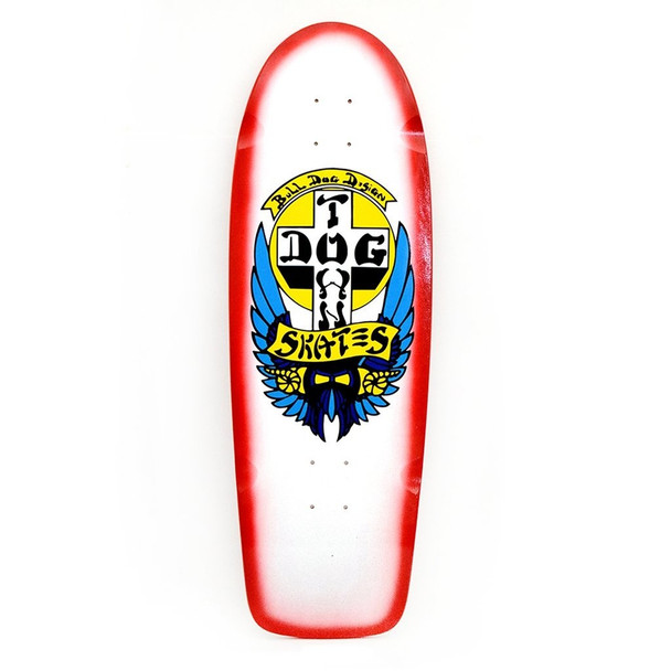 Dogtown OG Rider Bulldog Deck White Red Fade 10x32.5