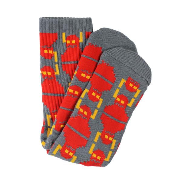 Toy Machine Digi Monster Socks Grey Red OneSize