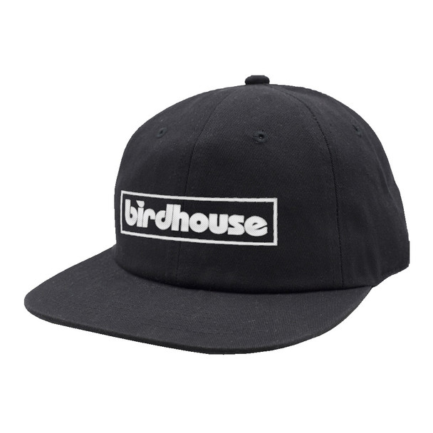 Birdhouse Bar Logo 6-Panel Hat Black Ripstop
