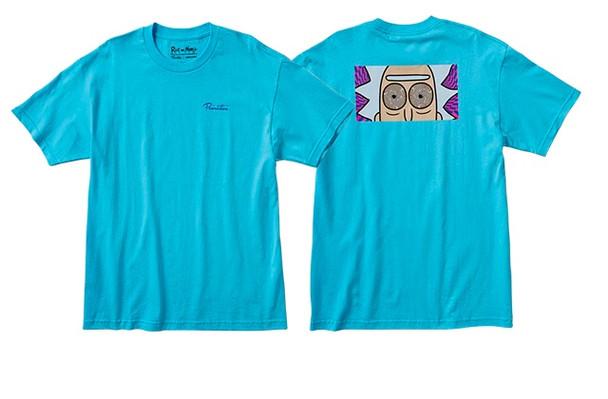 Primitive Rick Hypno Eyes Tshirt Pacific Blue