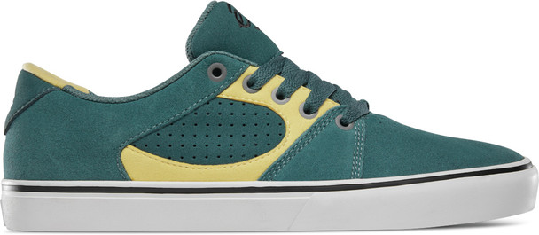 ES Square Three Shoes Green Gold