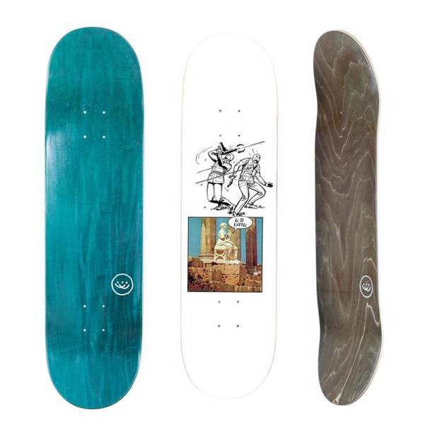DoublesLTD No Man Skate Deck White 8.75 w/ MOB Grip