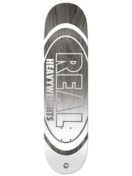 Real Heavyweight Skate Deck Grey 8.5 w/ MOB Grip