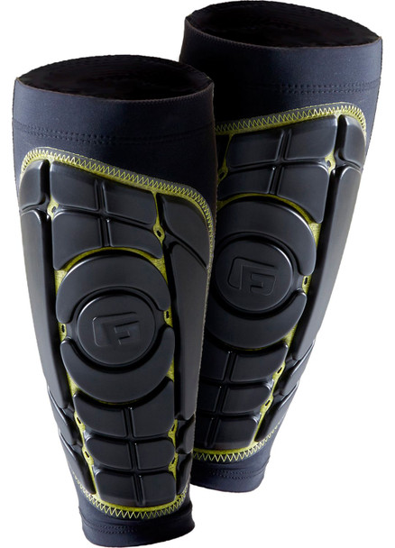G-Form Pro-S Elite Shin Pad Set Black Yellow
