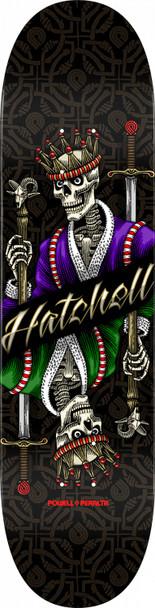 Powell Peralta Hatchell King Skate Deck Black 8.5x32 w/ MOB Grip