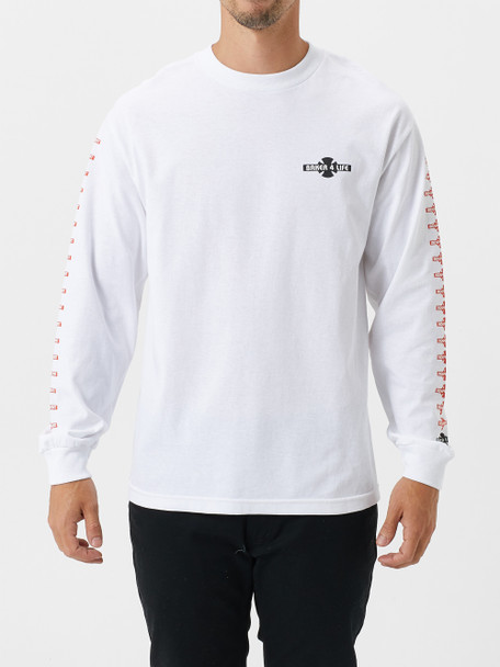 Independent x Baker 4 Life LS Tshirt White