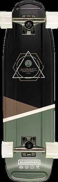 ALUMINATI OBLIQUE HIGGS SKATEBOARD COMPLETE-8.12x28