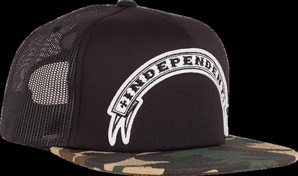 INDEPENDENT STEADY MESH TRUCKER HAT ADJ-BLACK/CAMO