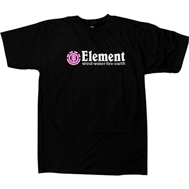 Element Horizontal SS TShirt Flint Black Pink