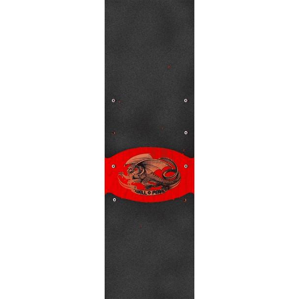 Powell Oval Dragon Grip Tape Black 9x33
