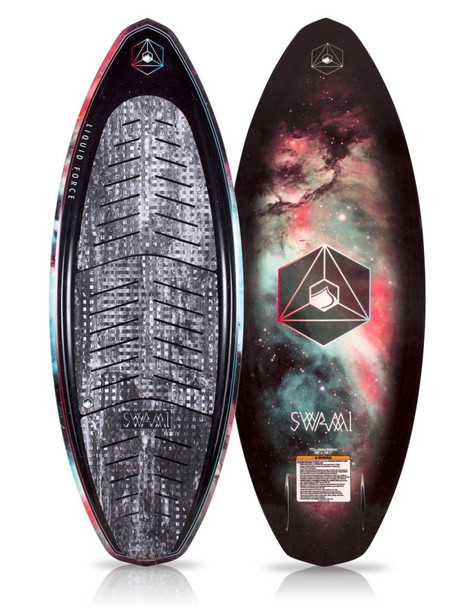 "Liquid Force Swami Wake Surf 2020 Black 58"""