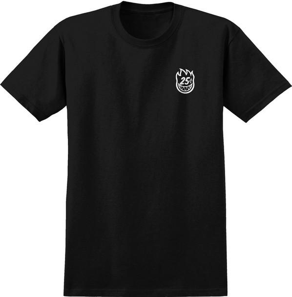 Spitfire x QuarterSnacks Classic Tshirt Black