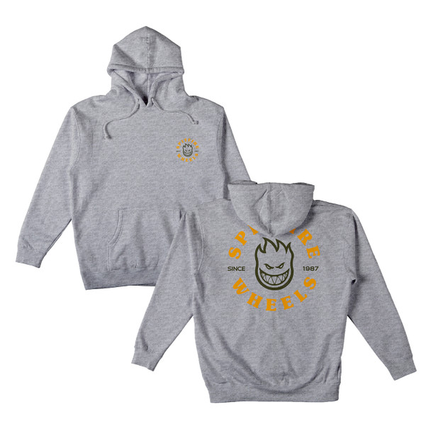 Spitfire Bighead Classic Hoodie Heather Grey Gold