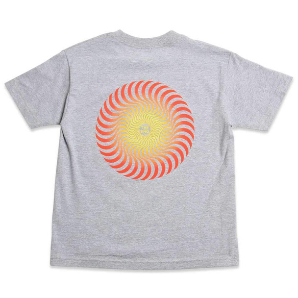 Spitfire OG Classic Swirl Logo Tshirt Heather Grey Small
