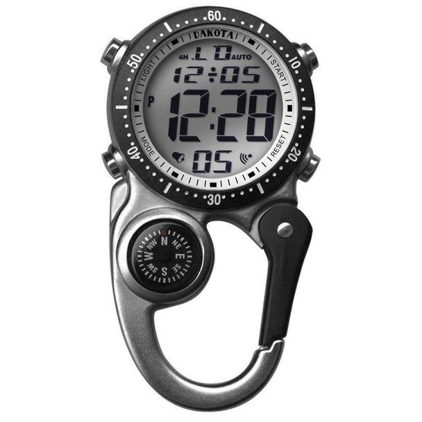 Dakota Digital Mini Clip Watch Silver Onesize