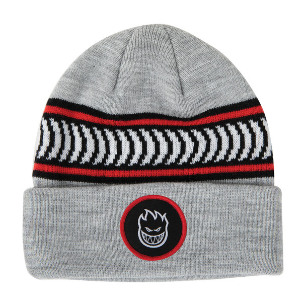 Spitfire BigHead Circle Patch Classic Beanie Grey Onesize