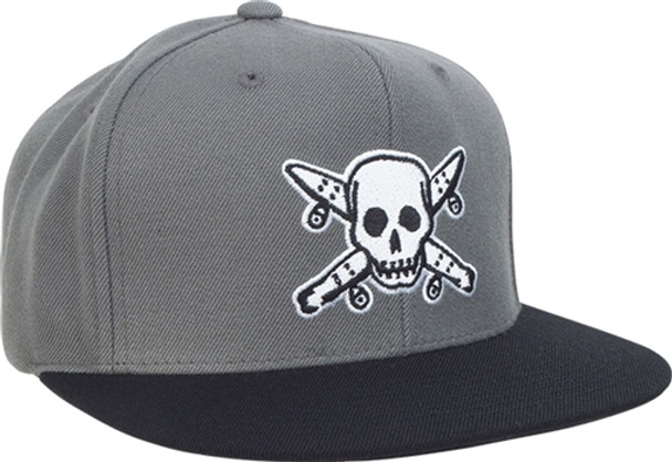 4b5dd5236a4 Fourstar Street Pirate Hat Snapback-Grey