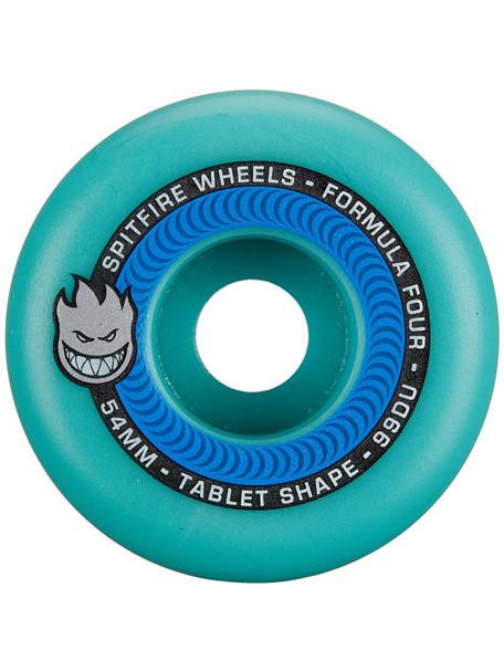 Spitfire F4 Tablets Skate Wheels Set Ice Blue 54mm/99d