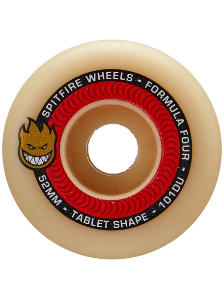 Spitfire F4 Tablets Skate Wheels Set Natural Red 51mm/101d