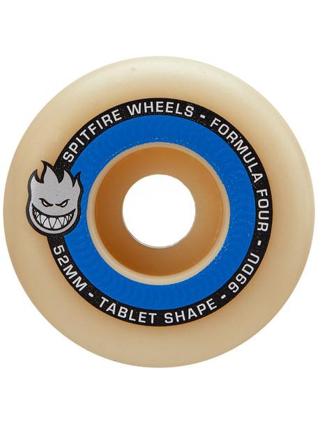 Spitfire F4 Tablets Skate Wheels Set Natural Blue 52mm/99d