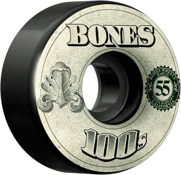 Bones 100s Money V4 OG Wheels Set #11 Black Green 55mm